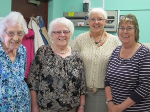 Left to right: Mary Buckley, 86; Mary Cox, 85; Pat Williams, 66 and Louisa Morriss, 62