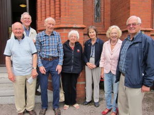 Terry Morris (third from left) with some of the St Vincent's CAFOD group.